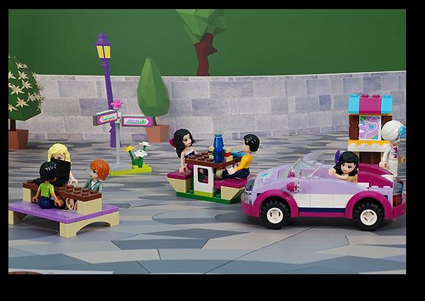 Bakku Backgrounds Toy scenery | Lego Friends