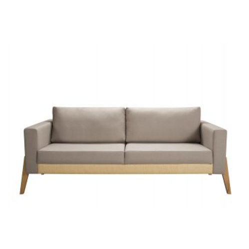 Sofa Naim 2 LG Madeira Tauri T1073 Linho Com Palha