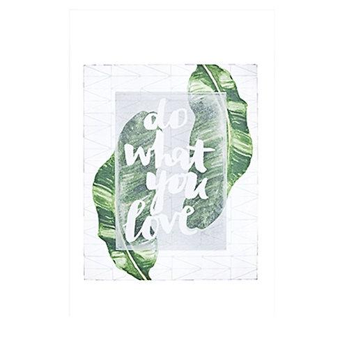 Quadro Do What You Love Mart Em Canvas 40X50cm