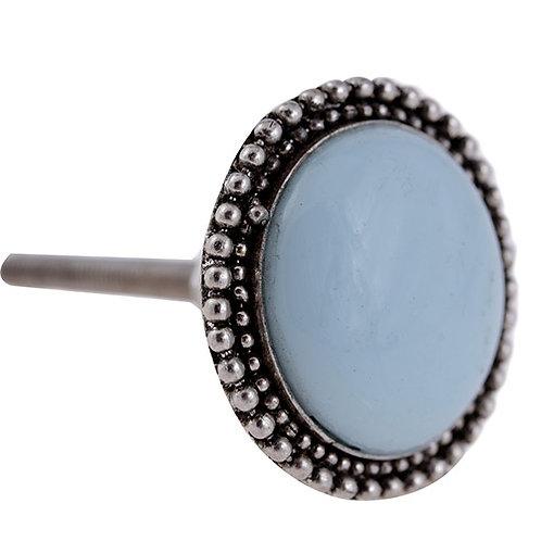 Puxador Porta Cerâmica e Metal Azul 3097