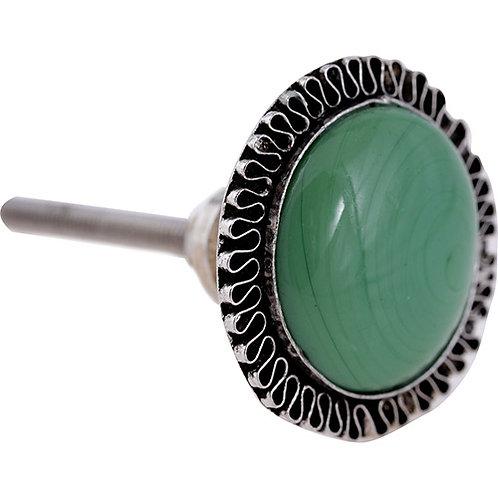 Puxador Porta Cerâmica e Metal Verde 3098