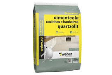 Argamassa Impermeável Banheiro Cozinha 20KG Quartzolit