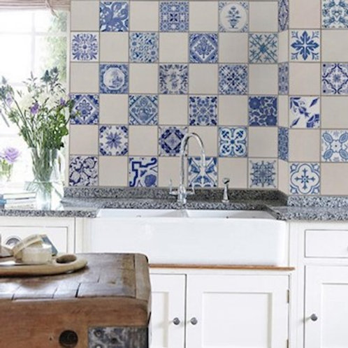 Adesivo Azulejos Clássicos 15x15 cm.