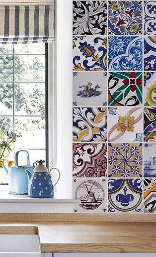 Adesivo Azulejos Portugueses 15x15 cm.