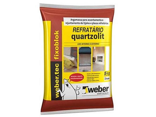 Argamassa Refratario Cinza 05KG Quartzolit