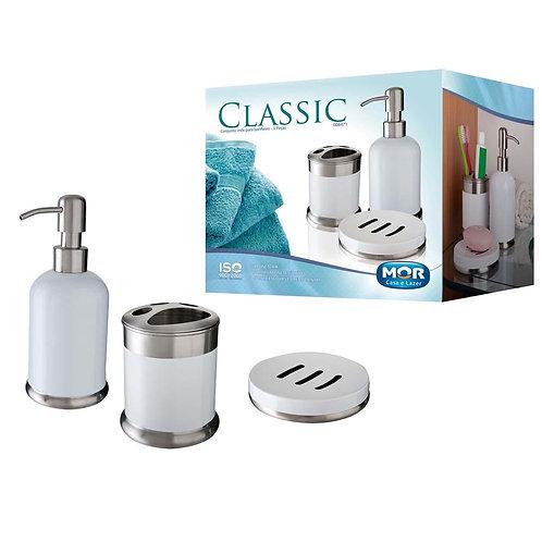 Conjunto Inox Toalete 3Pçs Classic Mor