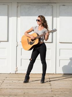 Lynn Moffatt with Guitar
