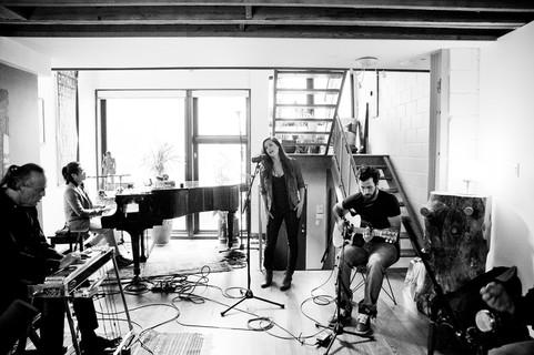 Lynn Moffatt Band performing live at The