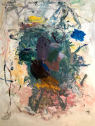 Oil, oil pastel, graphite on canvas paper $650