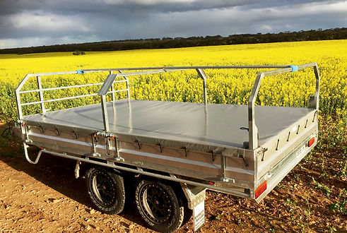 Rivercity Trailers Canopy on Flat Top Tr