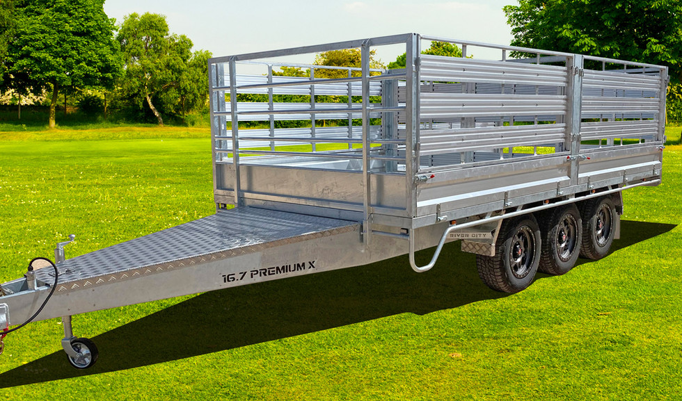 Premium X Flat Top Trailer with Stock Cr