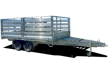 Cattle Crate on Flat Top Trailer