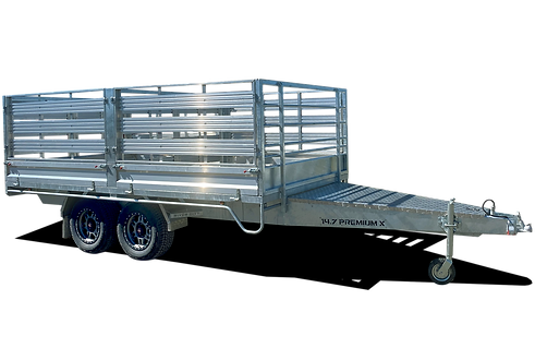PremiumX Flat Top Trailer with Stock Crate