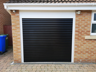 Domestic insulated roller shutter.