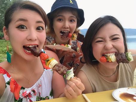 女子旅最終日にビーチBBQ!