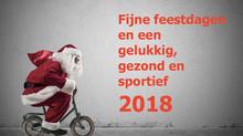 Fijne feestdagen en een gelukkig, gezond en sportief 2018 gewenst!
