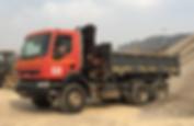 HRF Madagascar : Location camion benne à grue RENAULT Kerax Madagascar, Antananarivo (Tana)