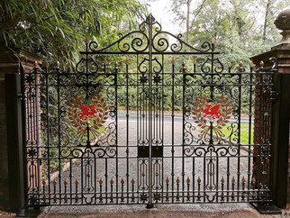 Automatic gate installation carried out on a stately home in South wales, in association w