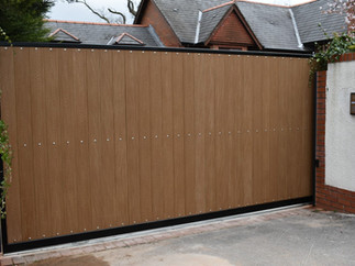 AUTOMATIC SLIDING GATE INSTALLATION CARRIED OUT IN CARDIFF, SOUTH WALES.