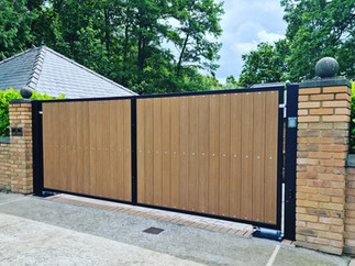 Double Leaf, Automatic Swing Gate Installation www.gate-systems.com