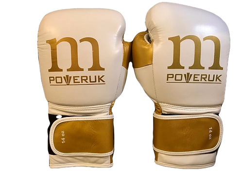 WHOLESALE Sparring Gloves (White/Gold)