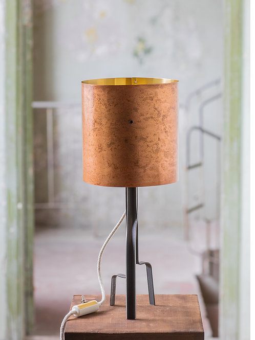 Pink Brass Lamp No. 2-001