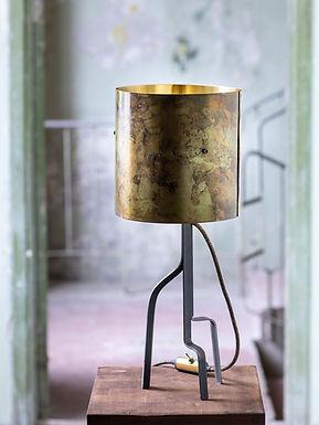 Green Brass Barrel Lamps by Michael McCready