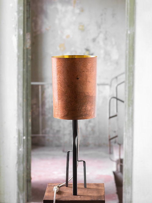 Pink Brass Lamp No. 1-001