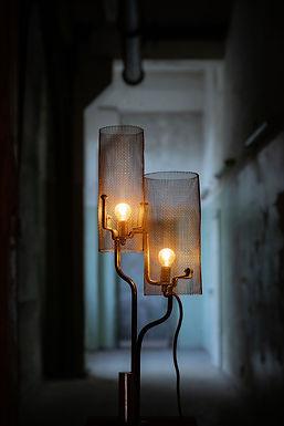 Mesh Barrel Lamps by Michael McCready