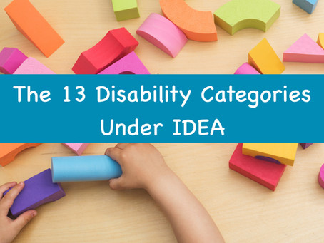 The 13 Disability Categories Under IDEA