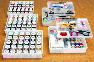Threads Scissors, pins and needles organizer