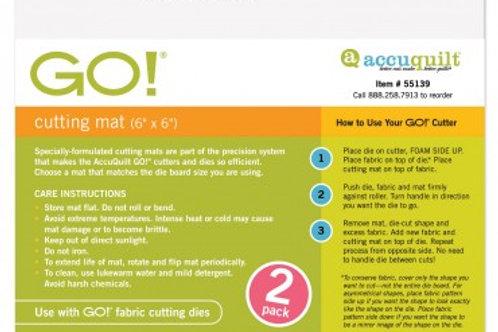 "AccuQuilt GO! 6X6"" Cutting Mat (2 pack)"
