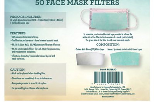 Mask Filters - pack of 50
