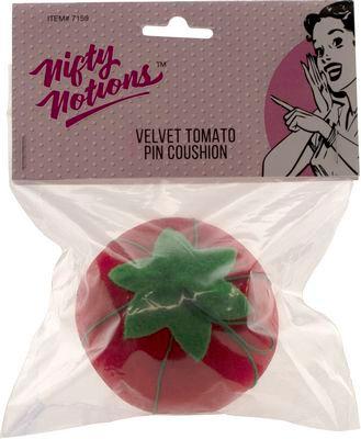 Nifty Notions Velvet Tomato Pincushion