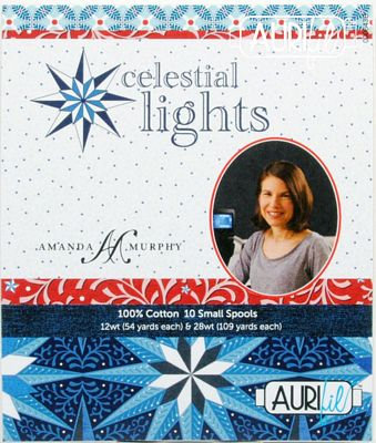 Amanda Murphy Celestial Lights Aurifil Thread Collection