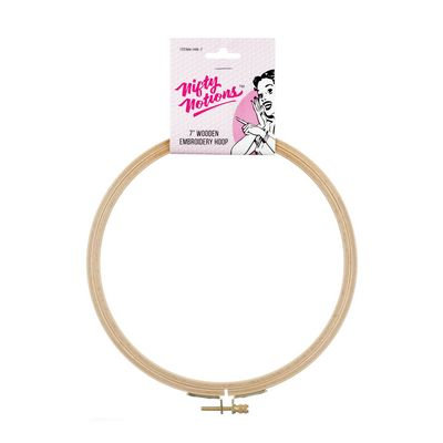 Nifty Notions Wood Hand Embroidery Hoop 7 in