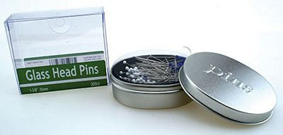 Nifty Notions GlassHead Pins 1-3/8in 200c