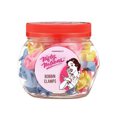 Nifty Notions Bobbin Clamps Jar 70ct