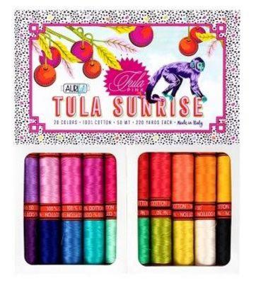 Tula Sunrise Aurifil Thread Collection by Tula Pink