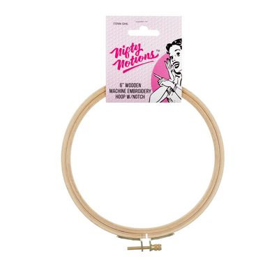 Nifty Notions Wood Hand Embroidery Hoop with Notch 6in