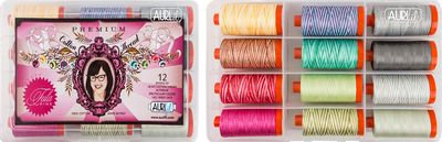 TulaPink Premium Aurifil Thread Collection12Clr
