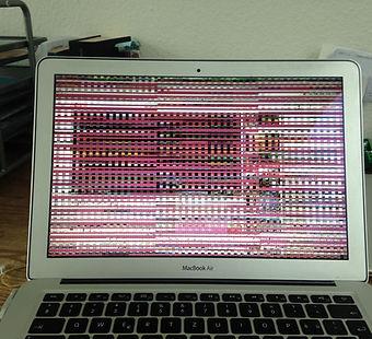 MacBook Pro A1211, A1212, A1150, A1151 Grafikkarte Reparatur