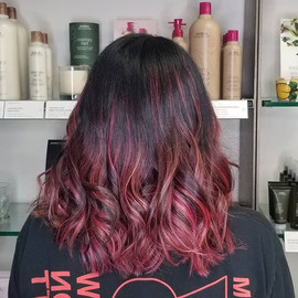 Cherry Almond Pink Balayage by Taryn