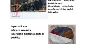 RIC-AMARE IL PAESAGGIO omaggio ad Angelo Morbelli LANDSCAPE and embroidery