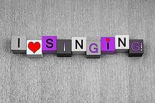 I Love Singing, sign or design for lovin
