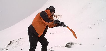 snow digging