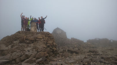 Ben Nevis Summit on a quite day