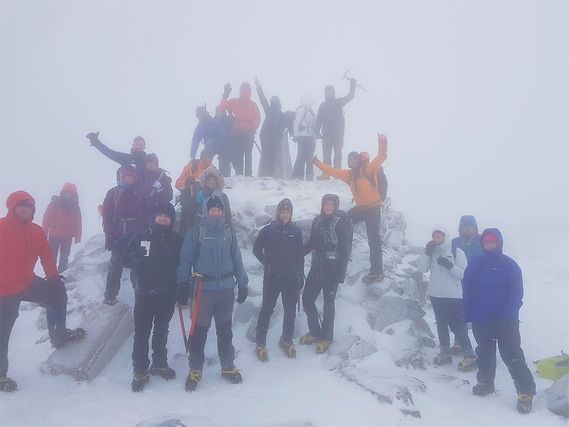 Our group on Ben Nevis 2020