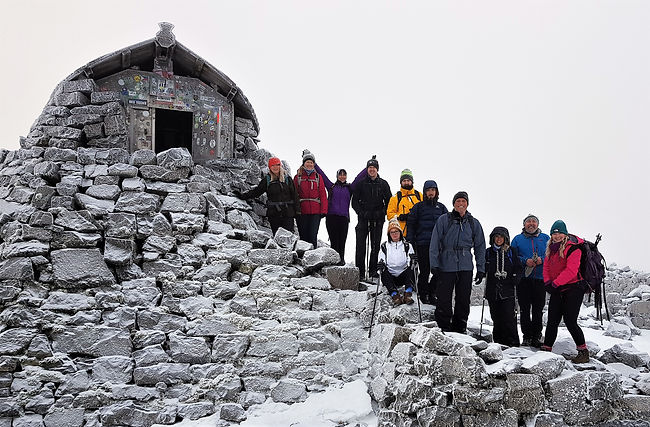Our Group on Ben Nevis New Years Day 2019