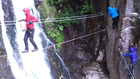 The new section on the Via Ferrata...